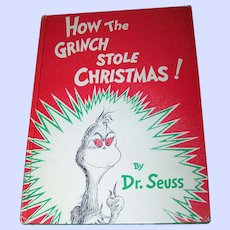 """Children's Hard Cover Book """" How The Grinch Stole Christmas """" Random House"""