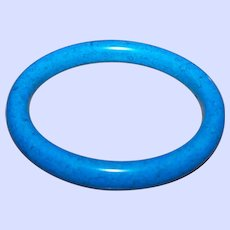 If You love Blue This Unique Vintage  Marbled Glass Bangle Bracelet IS For You