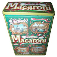 Decorative Case Manufacturing Co Inc Macaroni Tin Commemorative Made In England