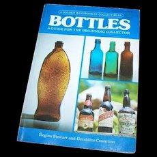 "Vintage Soft Cover Collector Referebnce Book "" Bottles A Golden HandBook of Collectibles "" 1976"