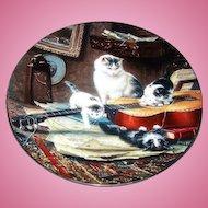 String Quartet Kitty Cat Kitten Plate By Henriette Ronner W.L. George Fine China