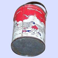Collectible  Advertising Tin Litho Schwartz Peanut Butter Pail Bucket  Beurre D'Arachidies
