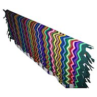 A Lovely Crazy Colorful Vintage Hone Decor Accent  Hand Knit Blanket With Tassels