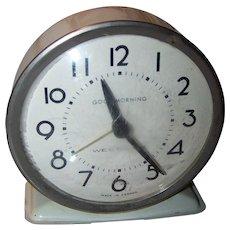 Metalware Westclox Good Morning Wind Alarm Clock MI Canada Home Decor Tick Tock
