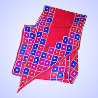 Vera Neumann Designer Wing Tip Ladies Fashion Scarf Geometric Pattern