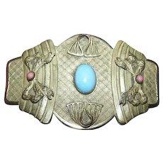 A  Unique Large  Vintage Decorative Sash Brooch Pin Brooch Ladies Fashion Accessory