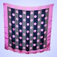 Large Fun Poly Silk Ladies Polk Dot Striped Sheer Fashion Scarf