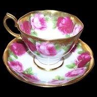 Royal Albert Old English Rose Floral  Mother's Day Tea Cup Saucer Set