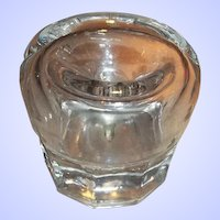 A Lovely Vintage Faceted  Crystal Funnel Decagon  Inkwell Spill-Free Design