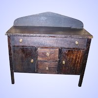 Vintage Salesman's Sample Folk Art Toy Wooden Side Board Buffet