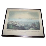 View Of The City Of Halifax , Nova Scotia Vue de la ville de Halifax , Nouvelle Ecosse W.H.Bartlett 1809-1854 Framed Print