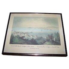 View Of The City Of Halifax , Nova Scotia Vue de la ville de Halifax , Nouvelle Ecosse W.H.Bartlett 1809-1854 Framed Print