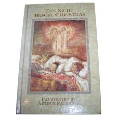 "Charming Vintage Hard Cover Book "" The Night Before Christmas "" Illustrated by Arthur Rackham"
