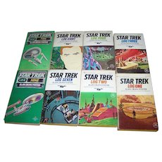 Lot of STAR TREK Logs of the STARSHIP ENTERPRISE Soft Cover Books Ballantine Science Fiction