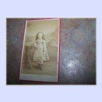 Vintage Carte de Visite  Photograph Pretty Little Girl C.  Lebert Paris