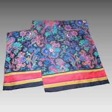 Pretty Vintage Floral Flower Themed Ladies Long Rectangular Fashion Scarf
