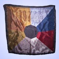 Fashion Accessory Hand Rolled Acetate Paisley Geometric Handkerchief Hanky