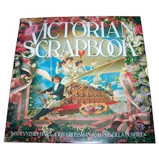 "Beautiful Vintage Hard Cover Book"" A Victorian Scarp Book "" By Cynthia Hart John Grossman Priscilla Dunhill"