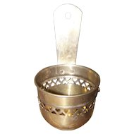 Decorative Pierced Heart Motif Vintage Made in India Brass Wall Pocket or  Planter