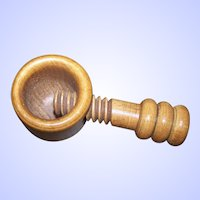 Great Old Mid-Century Modern Wood Nut Cracker Screw Style
