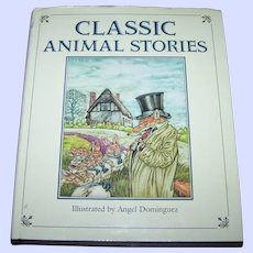 Hard Cover Children's Book Classic Animal Stories Illustrated by Angel Dominguez