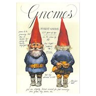 """Over Size Hard Cover Book """" GNOMES """" Harry N. Abrams Inc Publishers  1977"""