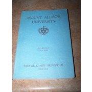 Mount Allison University Calender 1963-1964 Book Sackville NB CANADA