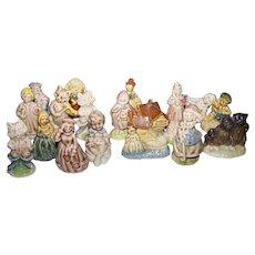 Lot of 18 Wade Whimsies Red Rose Tea Nursery Rhyme Figurines