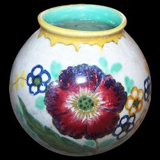 Vintage Mid-Century Modern  Royal Gouda Holland  Art Pottery Vase AERO