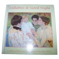 "Hard Cover Vintage Book "" Lullabies & Good Night """