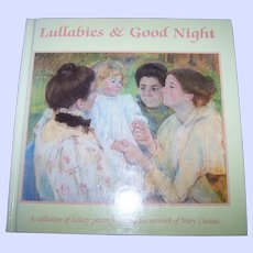 "Hard Cover Vintage Book "" Lullabies & Good Night """