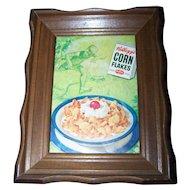 Vintage Wall Art Framed Advertising Magazine Print Original  Kellogg's Corn Flakes