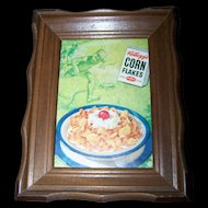 Vintage Wall Art Framed Advertising Magazine Print Original  Kellogg's Corn Flakes