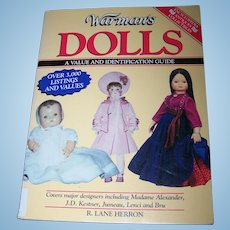 Soft Cover Reference Book on Collectible Dolls Over 3,000 Listings