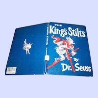 "Hard Cover Over Size Book "" The King's Stilts "" By Dr. Seuss"