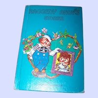 """Hard Cover Children's Book """" Raggedy Andy Stories """" Introducing Little Rag By Johnny Gruelle"""