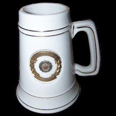 Vintage Advertising Tankard Stein Mug KINGS POINT U.S. Merchant Marine Academy New York