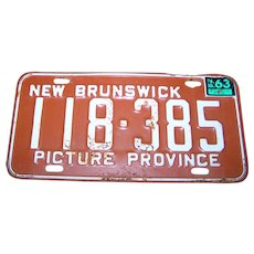 Metal Ware Collectible Souvenir License Plate New Brunswick Picture Province