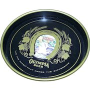 Nice Old Advertising Tin Litho Olympia Beer Serving Tray