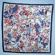 Pretty Glazed Polyester Ladies Fashion Scarf Mixed Flowers Floral Pattern