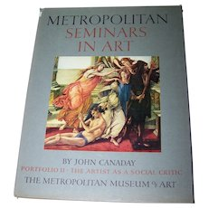Metropolitan Seminars Portfolio  II with Envelope in Front with  11 Beautiful Fine Color Prints