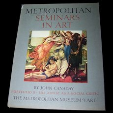 Metropolitan Seminars Portfolio  II with Envelope in Front with  11 Beautiful Fine Color Prints