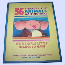 """Hard Cover Book Titled """"  36 Stange Little Animals Waiting To Eat """" by Roz Denny"""