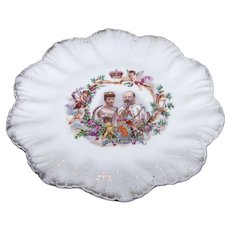 Vintage Coronation Plate  King Edward VII and Queen Alexandra of Denmark Made In Austria