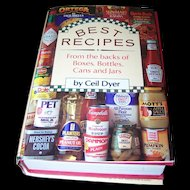 Best Recipes Hard Cover CookBook From Advertising Brands Such as Heinz Mott's and More