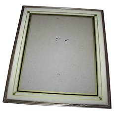 Vintage Art Deco Era Reverse Painted Glass Photographic Picture Frame Easel Back Style