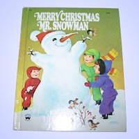 "Vintage Hard Cover Children's Book "" Merry Christmas Snowman "" ( The Snowman's Christmas Present  Wonder Books"