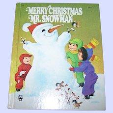 "Vintage Hard Cover Children's Book "" Merry Christmas Snowman "" ( The Snowman's Christmas Present  Wonder Books"