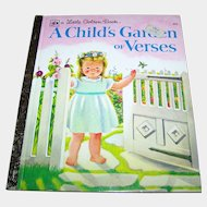 "Charming Children's Book "" A Child's Garden of Verses "" A Little Golden Book Beautifully Illustrated"
