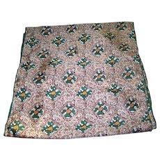 Vintage Long Rectangular Designer Signed Echo Abstract Floral Scarf